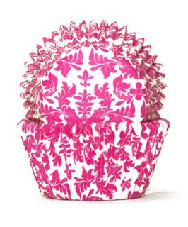 408 BAKING CUPS - PINK HIGH TEA - 100 PIECE PACK