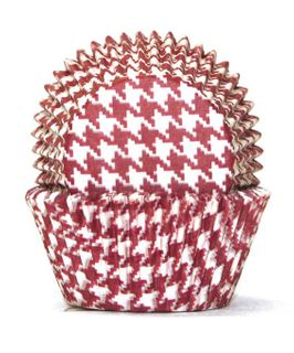 700 BAKING CUPS - RED HOUNDS TOOTH - 100 PIECE PACK