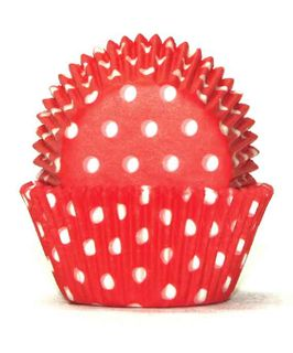 700 BAKING CUPS - RED POLKA DOTS - 100 PIECE PACK