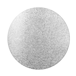 CAKE BOARD | SILVER | 12 INCH | ROUND | MDF | 6MM THICK