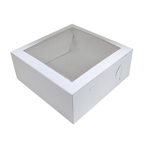 10X10X4 INCH CAKE BOX | TOP WINDOW | UNCOATED CARDBOARD