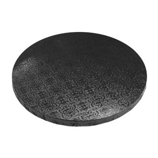 CAKE BOARD | BLACK | 12 INCH | ROUND | MDF | 15MM THICK