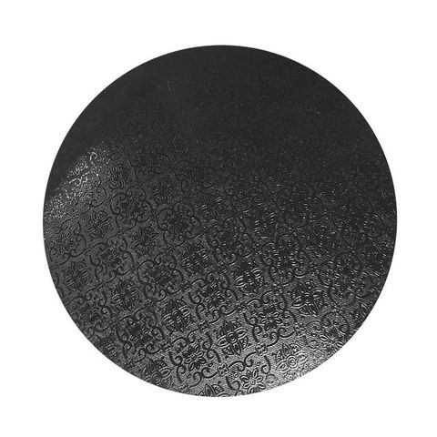 CAKE BOARD | BLACK | 14 INCH | ROUND | MDF | 6MM THICK
