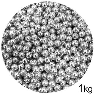 CACHOUS/BALLS | SILVER | 5MM | SPRINKLES | 1KG BOX