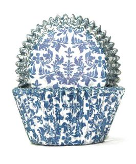 700 BAKING CUPS - BLUE HIGH TEA - 100 PIECE PACK