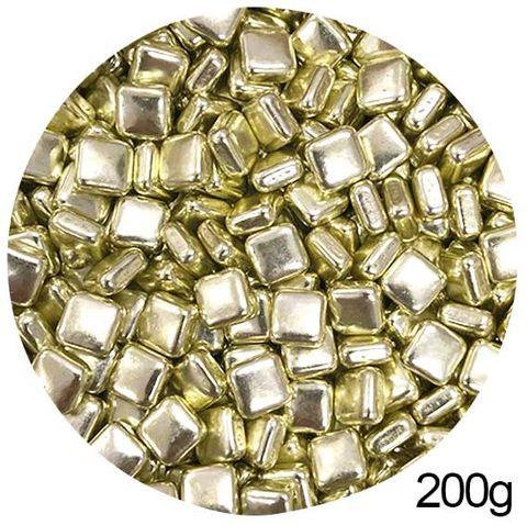 SQUARE SHAPE SPRINKLES | GOLD | 200G