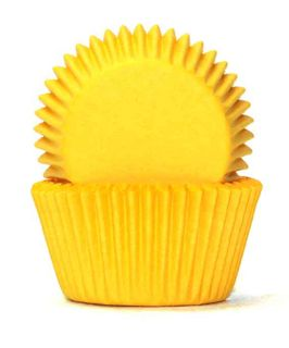 408 BAKING CUPS - YELLOW - 100 PIECE PACK