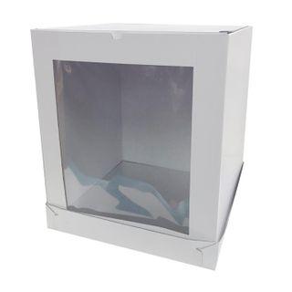 16X16X18 INCH CAKE BOX   SIDE WINDOW   CORRUGATED CARDBOARD
