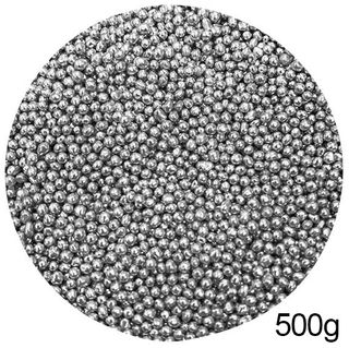 CACHOUS/BALLS | SILVER | 2MM | SPRINKLES | 500G BOX