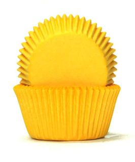 700 BAKING CUPS - YELLOW - 100 PIECE PACK