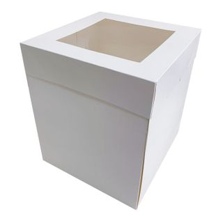 8X8X10 INCH CAKE BOX | TOP WINDOW | PE COATED