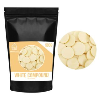 CAKE CRAFT | WHITE COMPOUND CHOCOLATE CALLETS | 500G