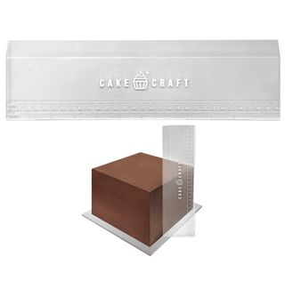 CAKE CRAFT   ACRYLIC SCRAPER WITH HEIGHT GUIDE   12 INCH
