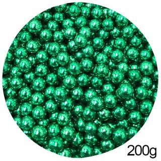 CACHOUS/BALLS | GREEN | 8MM | SPRINKLES | 200G