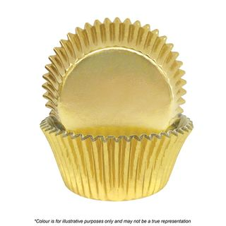 CAKE CRAFT   408 GOLD FOIL BAKING CUPS   PACK OF 72