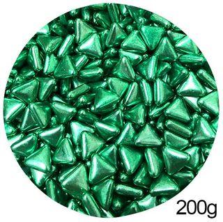 TRIANGLE SHAPE SPRINKLES   GREEN   200G