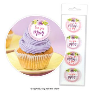 CAKE CRAFT | MOTHER'S DAY | WAFER TOPPERS | PACKET OF 16