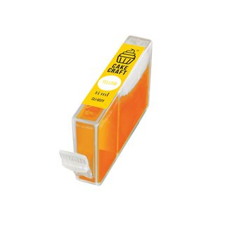 CAKE CRAFT | CANON CLI-651Y | EDIBLE INK REFILL CARTRIDGE | YELLOW | 14ML