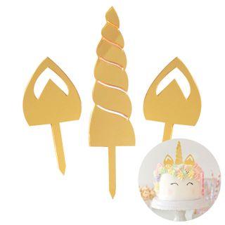 CAKE CRAFT | UNICORN | GOLD MIRROR | ACRYLIC TOPPER