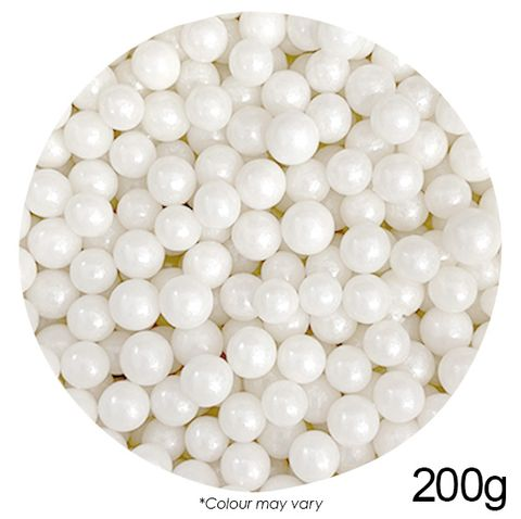 CACHOUS/BALLS | WHITE | 8MM | SPRINKLES | 200G