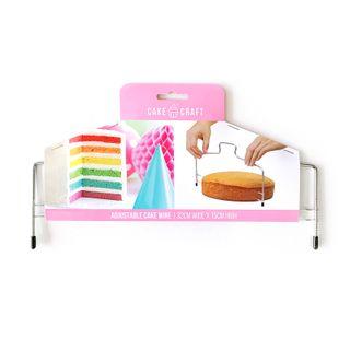 CAKE CRAFT | ADJUSTABLE LEVELLER/CAKE WIRE | 32CM WIDE X 15CM HIGH