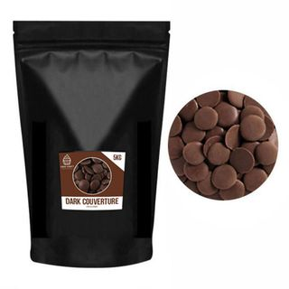CAKE CRAFT | DARK COUVERTURE CHOCOLATE BUTTONS | 5KG
