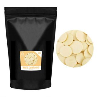 CAKE CRAFT   WHITE COMPOUND CHOCOLATE CALLETS   5KG