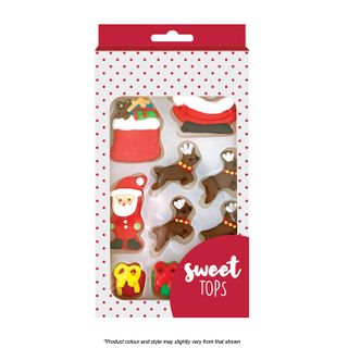 SWEET TOPS | CHRISTMAS | SUGAR DECORATIONS | 10 PIECES
