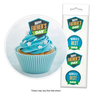 CAKE CRAFT | FATHER'S DAY | WAFER TOPPERS | PACKET OF 16