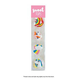 SWEET TOPS | UNICORN  | ICING DECORATIONS | 12 PIECES