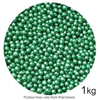 SPRINK'D | CACHOUS/BALLS | 4MM | METALLIC GREEN | 1KG
