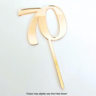 CAKE CRAFT | #70 | 9CM | GOLD MIRROR | ACRYLIC CAKE TOPPER