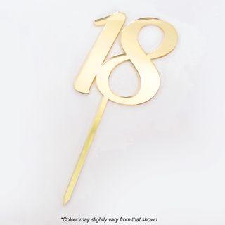 CAKE CRAFT | #18 | 9CM | GOLD MIRROR | ACRYLIC CAKE TOPPER