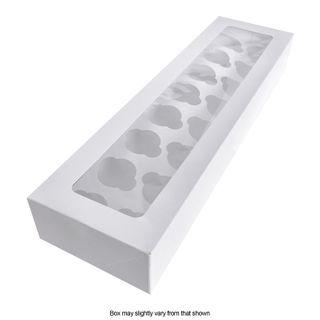 DISPLAY CUPCAKE BOX | 16 HOLES | MINI | WHITE