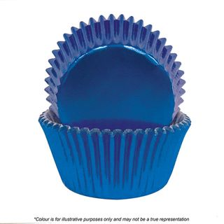 CAKE CRAFT   390 BLUE FOIL BAKING CUPS   PACK OF 72