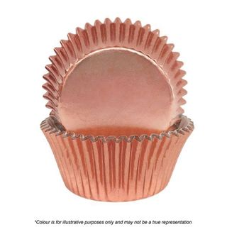 CAKE CRAFT | 390 ROSE GOLD FOIL BAKING CUPS | PACK OF 72