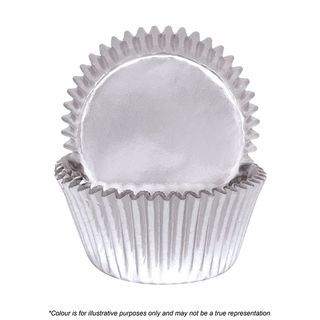 CAKE CRAFT | 390 SILVER FOIL BAKING CUPS | PACK OF 72