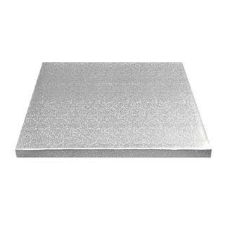 CAKE BOARD | SILVER | 14 INCH | SQUARE | MDF | 15MM THICK