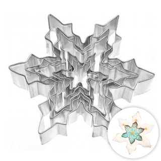 SNOWFLAKE | COOKIE CUTTER | SET OF 5