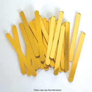 GOLD MIRROR | POPSICLE STICKS | 24 PACK