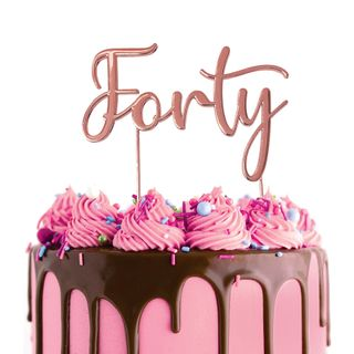 CAKE CRAFT | METAL TOPPER | FORTY | ROSE GOLD