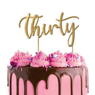 CAKE CRAFT | METAL TOPPER | THIRTY | GOLD