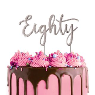 CAKE CRAFT | METAL TOPPER | EIGHTY | SILVER