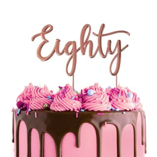 CAKE CRAFT | METAL TOPPER | EIGHTY | ROSE GOLD