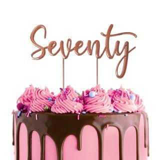 CAKE CRAFT | METAL TOPPER | SEVENTY | ROSE GOLD