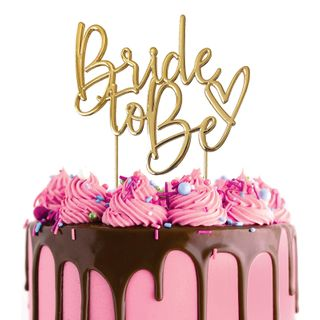 CAKE CRAFT | METAL TOPPER | BRIDE TO BE | GOLD