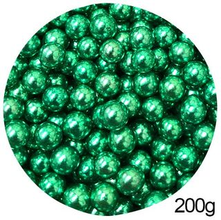 CACHOUS/BALLS | GREEN | 10MM | SPRINKLES | 200G