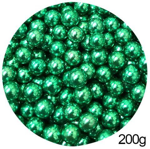 CACHOUS/BALLS | GREEN | 10MM | SPRINKLES | 200G