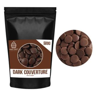 CAKE CRAFT | DARK COUVERTURE CHOCOLATE BUTTONS | 500G