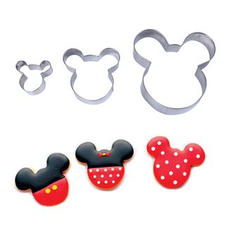 MICKEY MOUSE   COOKIE CUTTER   3 PIECES